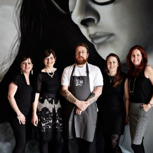 FOTE Team - Ruth Hegarty, Drigin Gaffey, Jp McMahon , Edel McMahon, Olivia Collins Food on the Edge 2016, Launch Copenhagen, Amass