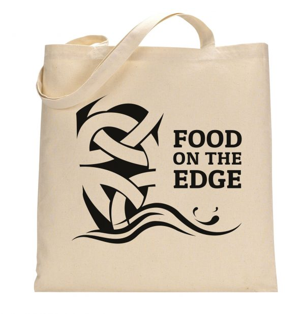 Food on the Edge Tote Bag Front